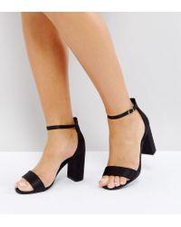 New Look Black Block Heel Sandal