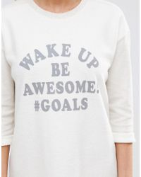 New Look Multicolor Wake Up Be Awesome Soft Nightshirt