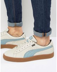 PUMA Gray Basket Gtx Sneakers In Grey 36189901 for men