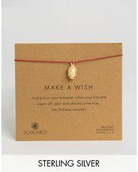 Dogeared - Metallic Gold Plated 3d Buddha Make A Wish Linen Bracelet - Lyst