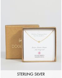 Dogeared - Metallic Gold Plated Little Bits Of Happy Mini Star Limited Edition Boxed Necklace - Lyst