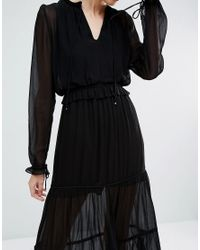 Vero Moda Black Tiered Maxi Dress
