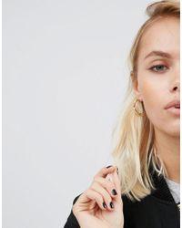 ASOS - Metallic Tough Girl 25mm Hoop Earrings - Lyst