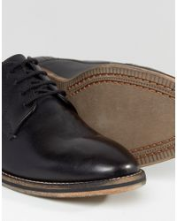 Frank Wright Merton Oxford Shoes In Black Leather - Black for men