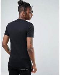 Versace Jeans T-shirt In Black With Logo for men