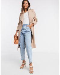 Rose - Manteau croisé en laine avec empiècements aux épaules - Fauve Ted Baker en coloris Natural