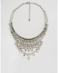 ALDO - Metallic Jewel Statement Choker - Lyst
