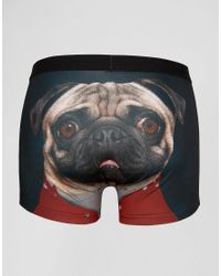 ASOS | Black Trunks In Microfibre With Pug Print for Men | Lyst
