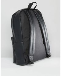 ASOS Backpack In Black With Gold Emboss for men
