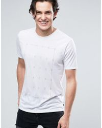 Nike All Over Text T-shirt In White 864881-100 for men