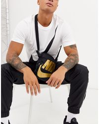 Heritage - Borsello nero e oro di Nike in Black da Uomo