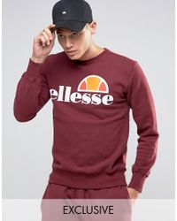 Ellesse - Red Sweatshirt With Classic Logo for Men - Lyst