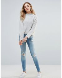 Vero Moda | Blue Five Super Slim Jeans | Lyst