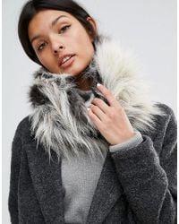 Urbancode Multicolor Long Pile Faux Fur Snood - Stag