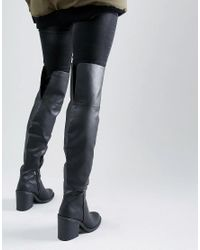 New Look Black Over The Knee Boots