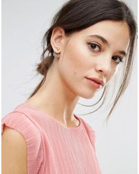 ASOS - Metallic Leaf Swing Earrings - Lyst