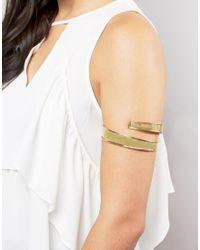 ASOS | Metallic 80s Coil Arm Cuff | Lyst