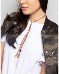 ASOS | Metallic Prairie Charm Bolo Choker Necklace | Lyst