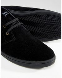 Fred Perry Black Byron Mid Suede Trainers for men