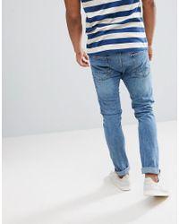 Stradivarius - Skinny Jeans In Light Blue for Men - Lyst
