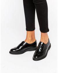 New Look Black Leather Look Brogue