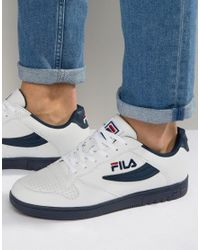 Fila Leather Fx-100 Low Trainers in