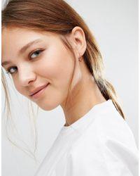 Pieces - Multicolor Ivy Heart Hoop Earrings - Lyst