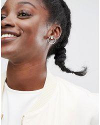 Monki - Metallic 3 Pack Diamante Disc Earrings - Lyst