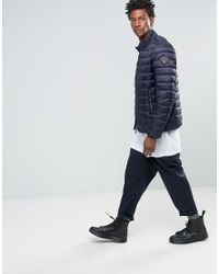 Napapijri - Blue Aerons Quilted Jacket Zip Front for Men - Lyst
