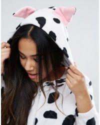 ASOS Black Novelty Dalmatian Onesie