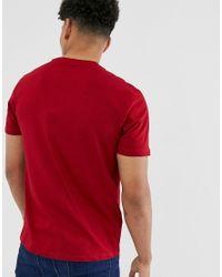 New Look – es T-Shirt mit Rundhalsausschnitt in Red für Herren