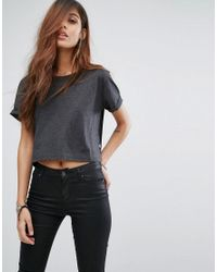 G-Star RAW Black Aeria Cropped T-shirt