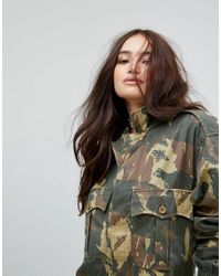 Reclaimed (vintage) Green Revived Boiler Suit In Camo