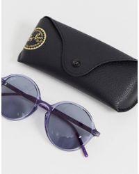 0RB4304 - Occhiali da sole rotondi lilla di Ray-Ban in Purple
