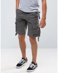 Bellfield | Green Military Style Cargo Shorts for Men | Lyst