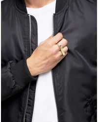 Love Bullets - Metallic Lovebullets Minimalist Double Ring In Gold for Men - Lyst