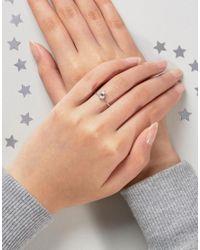 ASOS | Metallic Sterling Silver Birth Stone April Ring | Lyst