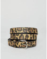 Pimkie Brown Leopard Print Belt