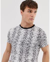 T-shirt à imprimé serpent Brave Soul pour homme en coloris Black