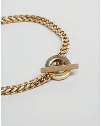 Vitaly - Metallic Cirkel Chain Bracelet In Gold for Men - Lyst
