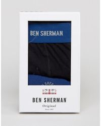 Ben Sherman | Gift Box Blue Trunk And Sock Set for Men | Lyst