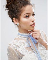 ASOS - Multicolor Super Faux Pearl Stud Earrings - Lyst