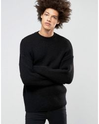Weekday Black Fixed Ribbed Knit for men