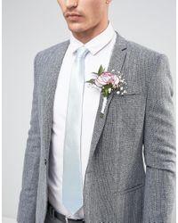 ASOS - Wedding Tie In Light Blue - Blue for Men - Lyst