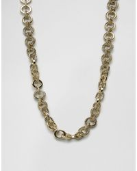 House of Harlow 1960 | Metallic Gold Tone Eternal Link Necklace | Lyst