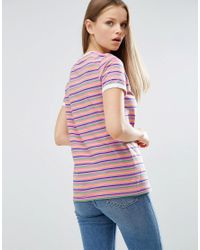 ASOS Black T-shirt In Retro Stripe With Tipping
