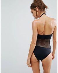 Free Society Meshin Around Black Swimsuit