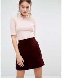 New Look Pink Short Sleeve High Neck T-shirt
