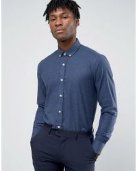 Original Penguin | Blue Formal Flannel Shirt for Men | Lyst