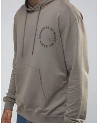 Criminal Damage - Gray Hoodie With Back Print for Men - Lyst